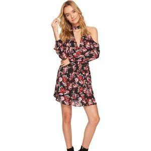 Jack by BB Dakota cold shoulder floral dress